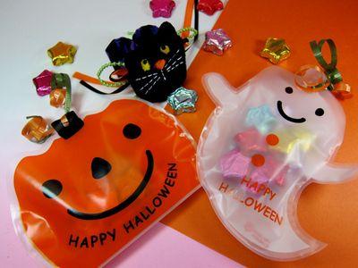 【ハロウィン】かぼちゃとおばけにチョコ